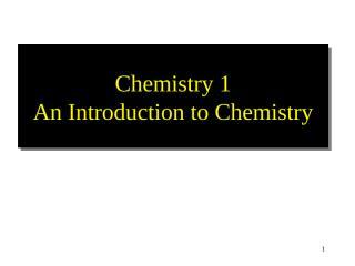 Chemistry 1.ppt