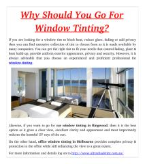 Why Should You Go For Window Tinting_.pdf
