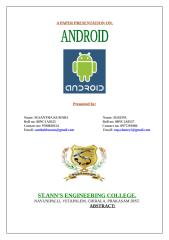 A paper presentation on ANDROID.doc