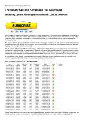 The Binary Options Advantage Full Download-html.pdf