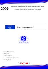 SCORP Projects Form 08-09 - Netherlands.doc