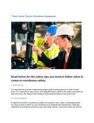 7 Basic Safety Tips for Warehouse Equipment.pdf