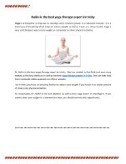 Nalini is the best yoga therapy expert in tricity.pdf