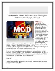 MCD Election Results 2017 LIVE Delhi voted against politics of excuses, says Amit Shah.pdf