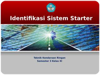 identifikasi sistem starter.ppt
