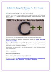 In Satellite Computer Training For C++ Course (1).doc