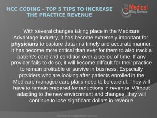 HCC Coding - Top 5 Tips to Increase the Practice Revenue.pptx