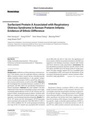 Surfactant Protein A Associated with Respiratory Distress Syndrome in Korean Preterm Infants.pdf.pdf