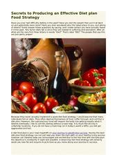 Secrets to Producing an Effective Diet plan Food Strategy.pdf