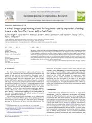 A mixed integer programming model for long term capacity expansion planning A case study from The Hunter Valley Coal Chain.pdf