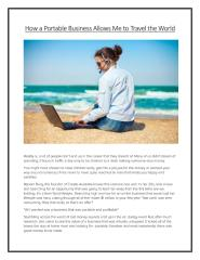 How A Portable Business Allows Me To Travel The World.pdf