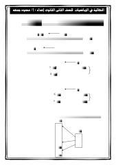 مذكرة الواجب و المراجعة الجبر ف1 الصف الثانى الثانوى لعام 2015.pdf
