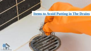 Items to Avoid Putting in The Drains.pptx